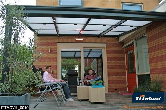 Porche negro aluminios sanz - Como decorar tu porche ...