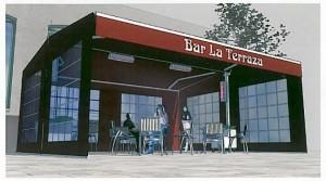 carpinteria aluminio madrid toldo bar 300x167 CERRAMIENTOS DE TERRAZAS EN LOCALES COMERCIALES