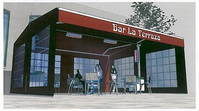 Toldos de terrazas para bares materiales de construcci n for Toldos cerramientos terrazas